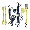 Heavy Duty Motorcycle Ratchet Strap Tie Down Kit