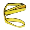 "1"" x 4' - 1 Ply Advant-Edge Yellow Polyester Eye Sling with Flat Eye"