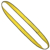 "1"" x 4' - 2 Ply Advant-Edge Yellow Polyester Endless Sling"