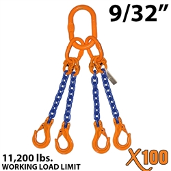 Chain Sling GRADE 100 Style QOS 9/32""