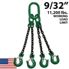 "9/32"" Grade 100 QOS Chain Sling - USA"