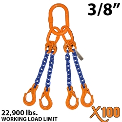 Chain Sling GRADE 100 Style QOS 3/8""