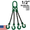 "1/2"" Grade 100 QOS Chain Sling - USA"