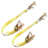 Two RJT Cluster Hook Ratchet Tie Down Straps