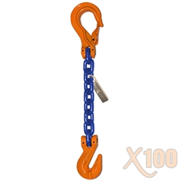 Chain Sling GRADE 100 Style SGS 1/2 x 15' CHAIN MADE IN USA WITH ITALIAN COMPONENTS