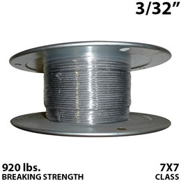 "3/32"" 7X7 Stainless Steel Aircraft Cable"