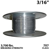 "3/16"" 7x7 Stainless Steel Aircraft Cable"