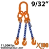 "9/32"" X100 TOG Grade 100 Chain Sling"