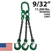 "9/32"" Grade 100 TOS Chain Sling - USA"