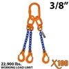 "3/8"" X100 TOS Grade 100 Chain Sling"