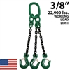 "3/8"" Grade 100 TOS Chain Sling - USA"