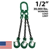 "1/2"" Grade 100 TOS Chain Sling - USA"
