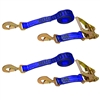 Two Twisted Snap Hook Ratchet Tie Downs