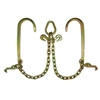 "GRADE 70 2' Leg V Chain with 15"" J Hooks, T Hooks, Grab Hooks, and Pear Link"