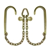 "GRADE 70 V Chain with 15"" J Hooks, Grab Hooks, and Pear Link"