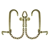 "GRADE 70 V Chain with 15"" J Hooks, Mini J Hooks, Grab Hooks, and Pear Link"