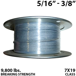"5/16"" - 3/8"" 7X19 Vinyl Coated Aircraft Cable"
