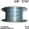 "3/8"" - 7/16"" 7X19 Vinyl Coated Aircraft Cable"