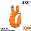 "3/8"" Grade 100 Clevis Grab Hook w/ Latch"