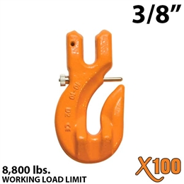 "3/8"" X100 Grade 100 Clevis Grab Hook w/ Latch"