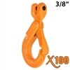 "3/8"" GRADE 100 Clevis Self Locking Hook X100 BRAND"