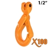 "1/2"" GRADE 100 Clevis Self Locking Hook X100 BRAND"