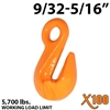 "9/32""-5/16"" X100 Grade 100 Eye Grab Hook"