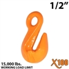 "1/2"" X100 Grade 100 Eye Grab Hook"