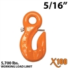 "5/16"" X100 Grade 100 Eye Grab Hook w/ Latch"
