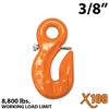 "3/8"" X100 Grade 100 Eye Grab Hook w/ Latch"