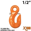 "1/2"" X100 Grade 100 Eye Grab Hook w/ Latch"