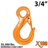 "3/4"" X100 Grade 100 Eye Sling Hook with Latch"