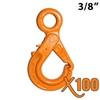"3/8"" GRADE 100 Eye Self Locking Hook X100 BRAND"