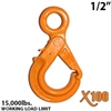 "1/2"" X100 Grade 100 Eye Self Locking Hook"