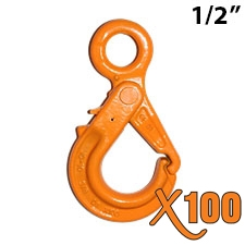 "1/2"" GRADE 100 Eye Self Locking Hook X100 BRAND"