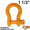 "1-1/2"" X100 Alloy Screw Pin Anchor Shackle"