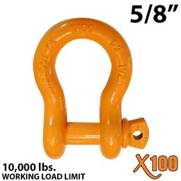 "5/8"" X100 Alloy Screw Pin Anchor Shackle"