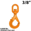 "3/8"" X100 Grade 100 Eye Swivel Self Locking Hook"