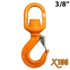 "3/8"" GRADE 100 Swivel Eye Self Locking Hook X100 BRAND"