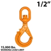 "1/2""  X100 Grade 100 Eye Swivel Self Locking Hook"