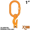 "1"" X100 Grade 100 Master Link with 5/8"" Eye Grab hook with Adjuster for 1 leg sling"