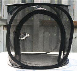 "Black 12"" by 12"" by 12"" Popup Cage without Vinyl Window"