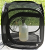"Black 12"" by 12"" by 12"" Popup Cage with zipper protection (no vinyl window)"
