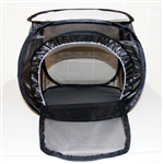 "Black 12"" by 12"" by 12"" Popup Cage with zipper protection (vinyl window)"