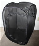 "Black 18"" by 18"" by 30"" Popup Cage without Vinyl Window"