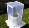 "Heavy Duty White Monarch Outdoor 15"" by 15"" by 30"" Popup Cage with zipper protection"