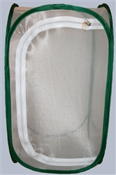 "White 13.5"" by 13.5"" by 24"" Popup Cage with Vinyl Window"
