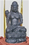 4ft River Stone Seated Kwan Yin Statue