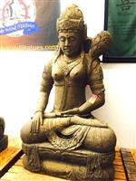 5ft Large Stone TARA KWAN YIN GARDEN BUDDHA STATUE Rare Goddess Sculpture