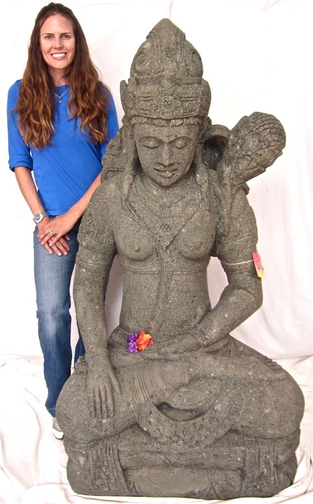 Beautiful 5ft Large Stone TARA KWAN YIN GARDEN BUDDHA STATUE Rare Goddess Sculpture